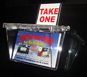 Amazoncom outdoor business card holder clear lid with for Vehicle business card holder