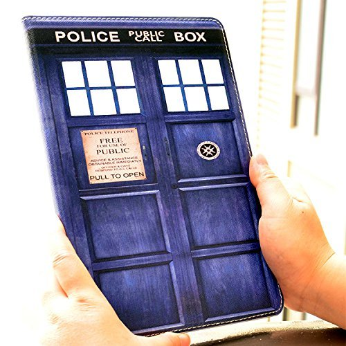 Blue Police Call Box Pattern Doctor Who Tardis Unique Design PU Leather Stand Case Smart Cover For Apple iPad 4th Generation ipad 2 & ipad 3
