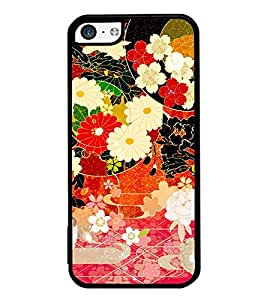 iFasho Animated Pattern flower with leaves Back Case Cover for Apple iPhone 5C