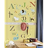 RoomMates RMK1440SCS Animal Alphabet Peel & Stick Wall Decals