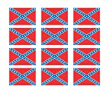 "(12) Rebel Confederate Flag 2"" Helmet USA Vinyl Sticker Decal"