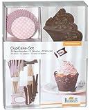 Cupcake-Deco-Set Schoko-Rosé