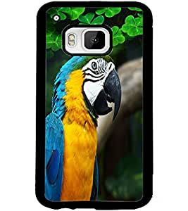 ColourCraft Cute Parrot Design Back Case Cover for HTC ONE M9