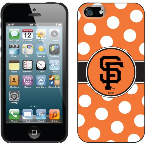 Best Price San Francisco Giants - Polka Dots design on a Black iPhone 5 Thinshield Snap-On Case by Coveroo
