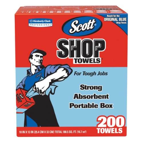 Kimberly-Clark 75190 Scott Shop Towels, 10″ X 13″, Blue (8