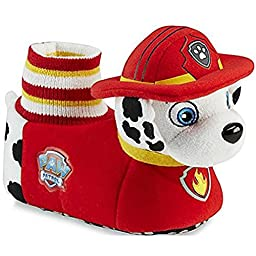 Nickelodeon PAW Patrol Toddler BoysRed/Yellow Plush Slipper (5-6 M US Toddler)