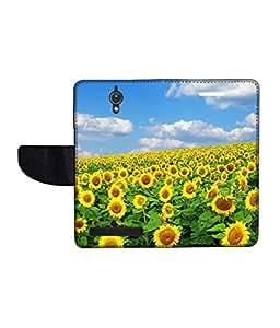 KolorEdge Printed Flip Cover For Asus Zenfone C Multicolor - (47KeMLogo09133ZenC)