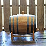 3-liter American Oak Barrel | Handcrafted using American White Oak | Age your own Whiskey, Beer, Wine, Bourbon, Tequila, Hot Sauce & More