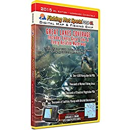 Fishing Hot Spots Pro GL Fishing Chip - Great Lakes Coverage 2015