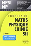 Formulaire Maths Physique Chimie SII MPSI MP