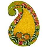 Rajasthali Wooden Kundan Work Pooja Plate WDN10033 - (10 in * 7 in)