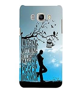 Imagine Peace Dreamer Cute Fashion 3D Hard Polycarbonate Designer Back Case Cover for Samsung Galaxy J5 2016 :: Samsung Galaxy J5 2016 J510F :: Samsung Galaxy J5 2016 J510FN J510G J510Y J510M :: Samsung Galaxy J5 Duos 2016