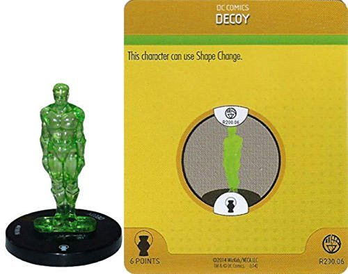 Heroclix DC War of Light Month 2 Op Kit #R100.06 Decoy (Green) Construct Complete with Card