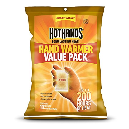 Read About HotHands Hand Warmers (Up to 10 Hours Heat) Individually Packed, 10 Pairs Plus 4-Free Cur...