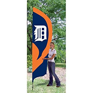 Detroit Tigers MLB Applique & Embroidered Tall Team Flag (102x30) by Party Animal