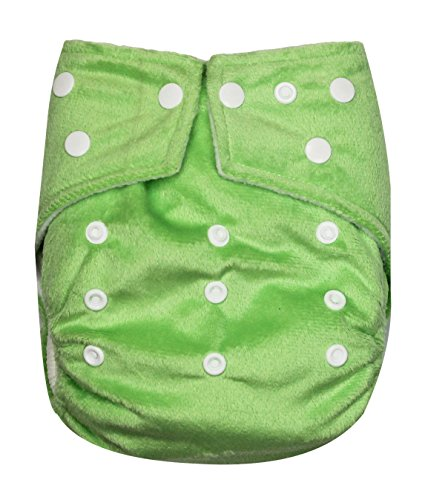 See Diapers One Size Minky Baby Cloth Diaper 2 Microfiber Inserts Green - 1