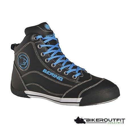 Bering - Bottes moto - Bering Pop Noir/Bleu - 39