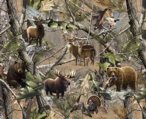 Picture for Hunting Realtree Allover Hidden Animals By Sykel 100 Polyester Fleece 60