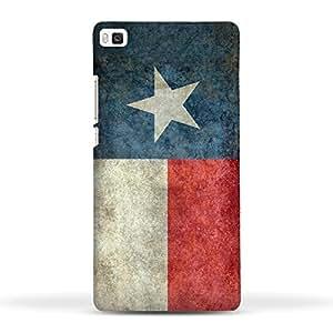 FUNKYLICIOUS Huawei Ascend P8 Back Cover Texas State Flag Retro vintage Design (Multicolour)