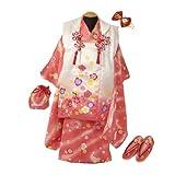 七五三 正絹 被布セット (3歳) ピンク 桜柄 1000-1
