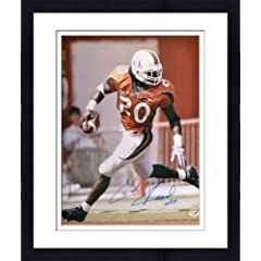 Framed Autographed Ed Reed Miami Hurricanes Photo - 16x20 SM - JSA Certified -...