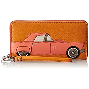 Fossil Sydny NVL Zip Wallet,Light Orange,One Size
