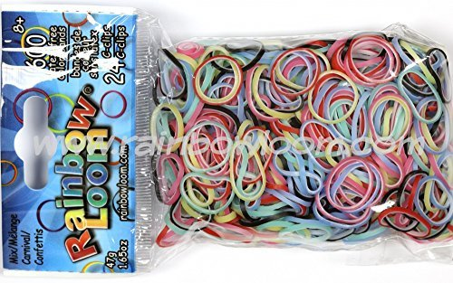 Officaial Rainbow Loom 600 Latex-Free Mixed Carnival (24 C-Clips) - 1