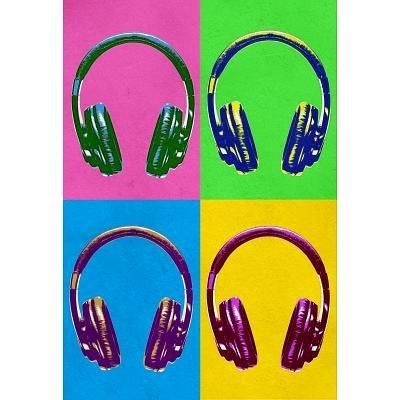(13X19) Headphones Pop Art Poster