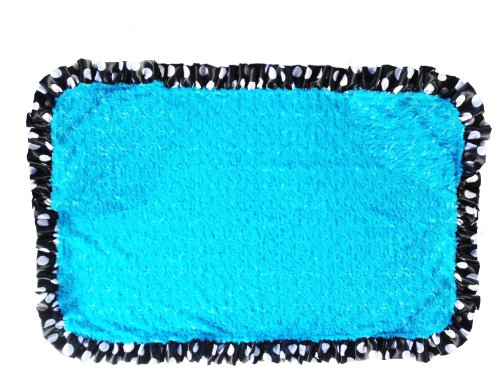 Patricia Ann Designs Zebra Satin Stroller Blanket, Turquoise Swirl