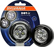 Amazon.com: Sylvania 36008 DOT-it Self-Adhesive Bright-White LED Tap Light, Black: Home Improvement