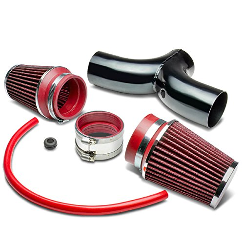 Dodge SUV/Truck Short Ram Cold Air Intake Pipe Kit Set (Black Pipe+Red Filter)
