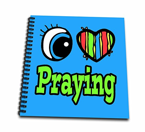 Dooni Designs Eye Heart I Love Designs - Bright Eye Heart I Love Praying - Memory Book 12 x 12 inch (db_106430_2)