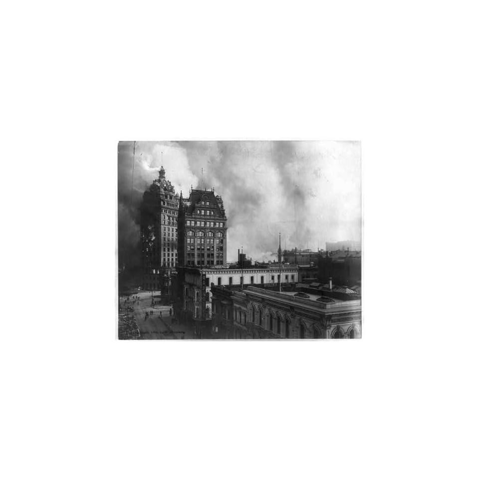 Photo San Francisco Disaster,c1906,earthquake,fire,smoke
