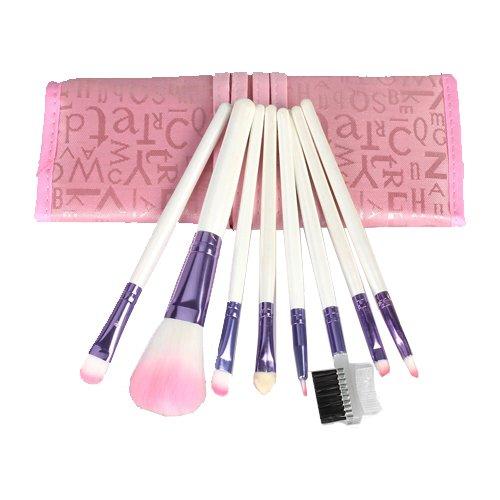 8pcs Pro Pink Make up Brushes Set with Case