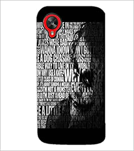 PrintDhaba Typography D-3737 Back Case Cover for LG GOOGLE NEXUS 5 (Multi-Coloured)