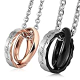 MoAndy Stainless Steel Couples Matching Necklaces Men Women I will always be with you