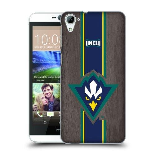 North Carolina Wilmington Seahawks Hard Back Cell Phone Case Onyx Stripe V1 (HTC Desire 826)