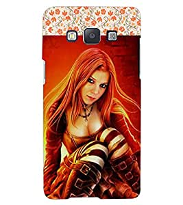 ColourCraft Beautiful Lady Design Back Case Cover for SAMSUNG GALAXY A7