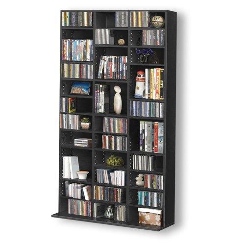 1116 CD/528 DVD Storage Shelf Rack Unit Adjustable Book Bluray Video Games(Black) Black Friday & Cyber Monday 2014