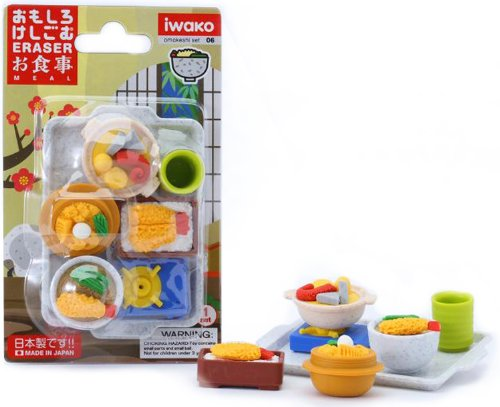 Iwako Japanese Foods Eraser Set
