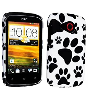 DOG FOOT PRINT HARD BACK PROTECTION CASE COVER FOR HTC DESIRE C