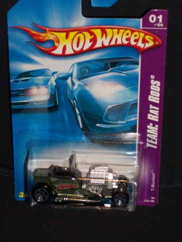 Hot Wheels 2008 125 Team: Rat Rods 1 of 4 T-Bucket 1/4 T Bucket 1:64 Scale - 1