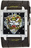 Ed Hardy Men's WA-TG Warrior Tiger Stainless Steel 316L Watch