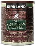 Signature 100% Colombian Coffee Supermo Bean Drak Roast-Fine Grind, 3 Pound