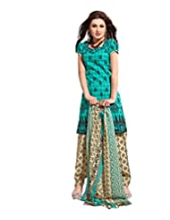 Sky Fashions Women's Multi Cotton Top Un-stiched Salwar Suit (SYFW0027)