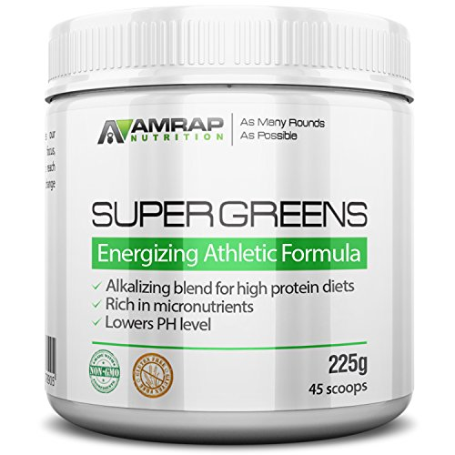 AMRAP Nutrition - Organic Supergreens Powder - Blend of 11 Super Green Juices to Increase Stamina, Strengthen Immune System and Maintain Healthy PH Levels - Rich in Micronutrients (Wheatgrass Juice Powder Bulk compare prices)