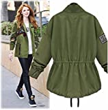 Spring Autumn Women Bomber Jacket Tops Long Sleeve Slim Turn-Down Collar Outwear Women Basic Coat Size :4XL