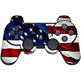 247Skins - Sticker de Protection pour Manette PS3 Playstation 3 Sony - Stars N Stripes