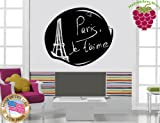 Wall Stickers Vinyl Decal Paris Eiffel Tower Monument Tourism Europe ig932