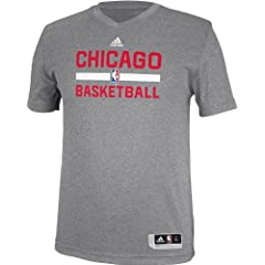 Chicago Bulls Pre-Game Fitted Performance T-Shirt by Adidas by adidas